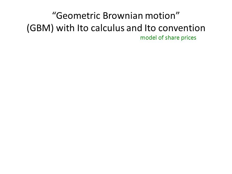 GBM, Ito convention, using Fokker-Planck (Finally), the FP equation for the Ito convention