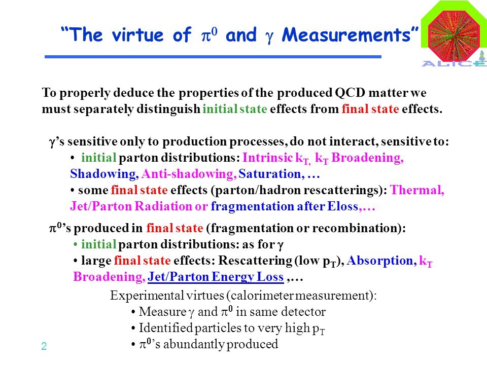 2  's sensitive only to production processes, do not interact, sensitive to: initial parton distributions: Intrinsic k T, k T Broadening, Shadowing,