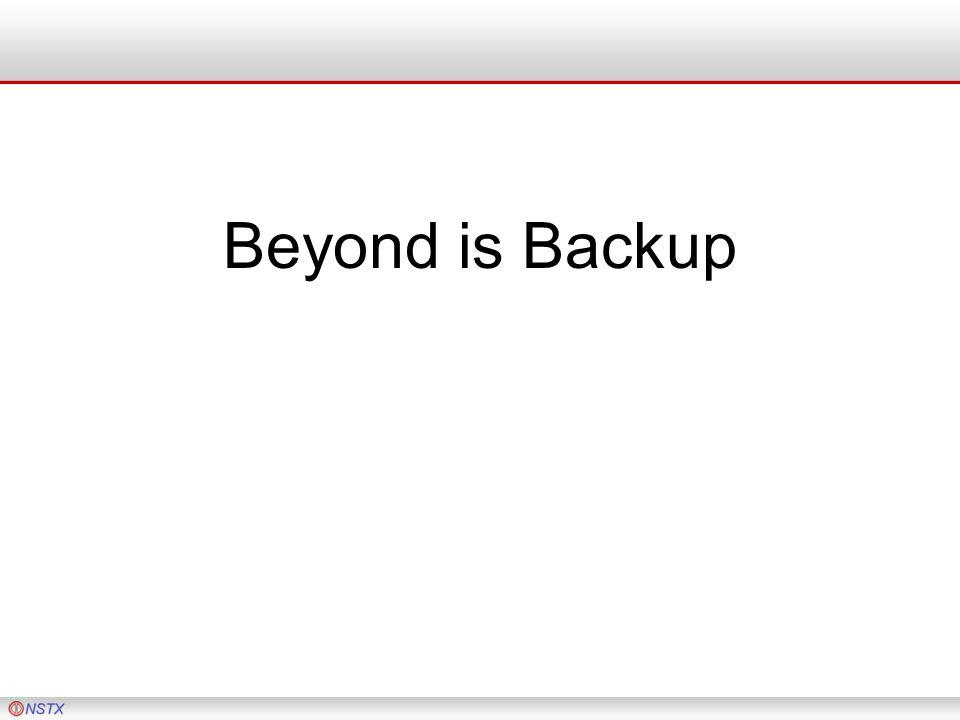 Beyond is Backup