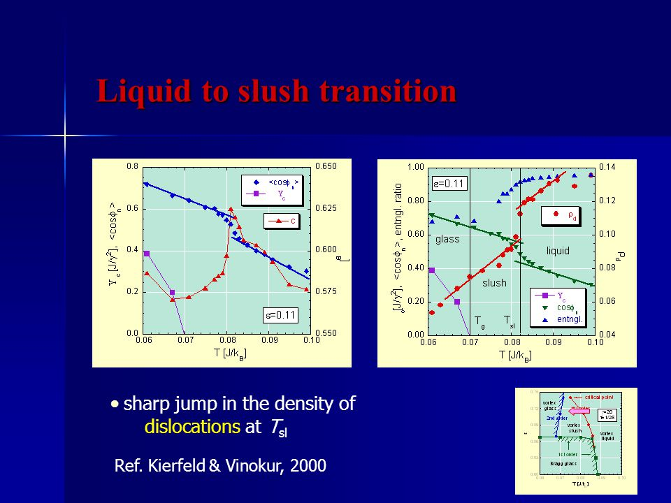 ● sharp jump in the density of dislocations at T sl Ref.