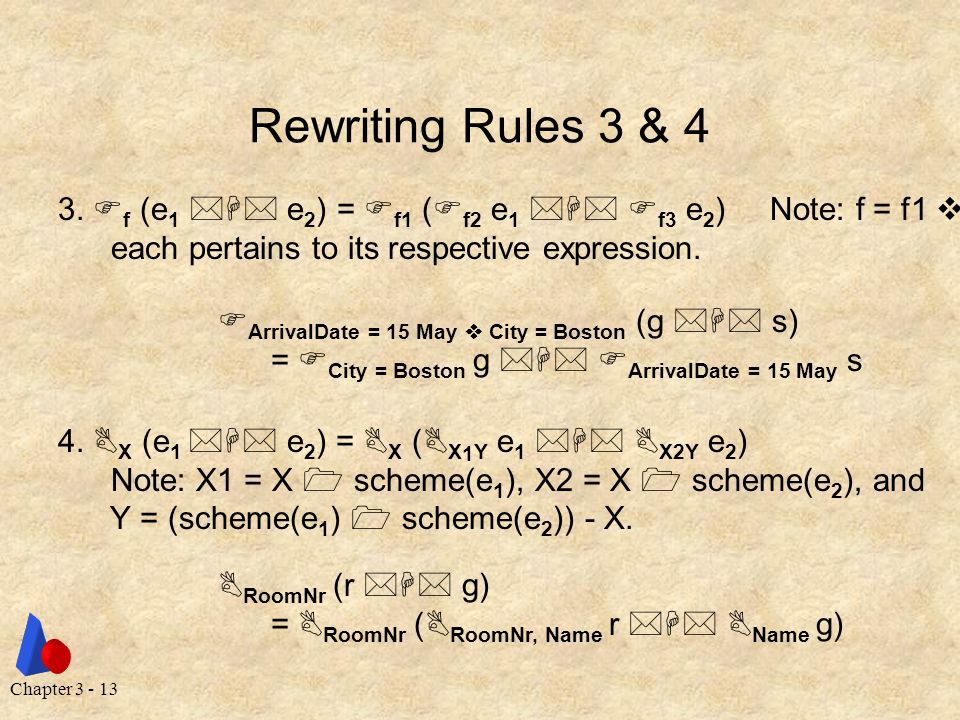 Chapter 3 - 13 Rewriting Rules 3 & 4 3.