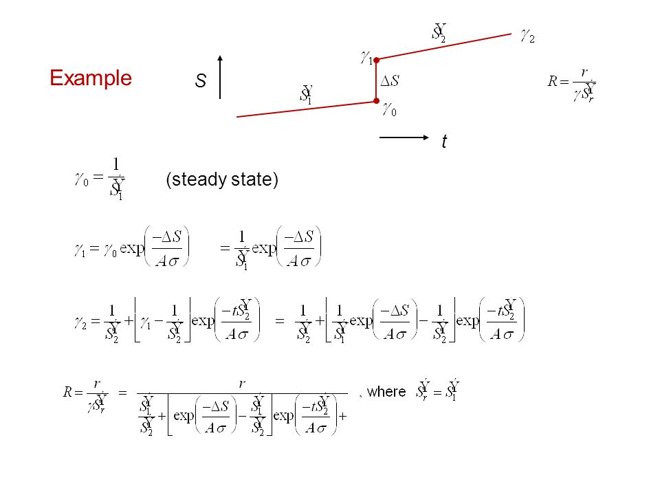 Example S t (steady state)