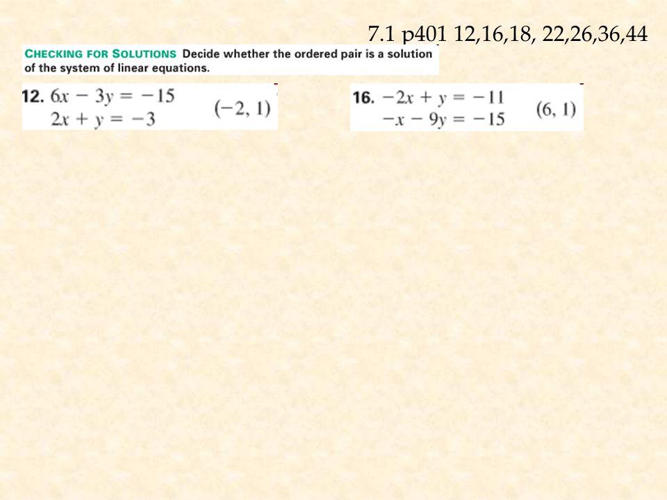 2x – y = 3 2x - 3 = y 4x + 3(2x-3) = 21 4x + 6x – 9 = 21 10x = 30 x = 3 4(3) + 3y = 21 12 + 3y = 21 3y = 9 y = 3 (3,3) Check: 2(3) -3 = 3 4(3) + 3(3) = 21