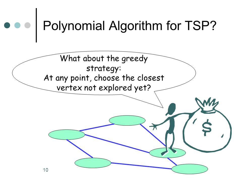10 Polynomial Algorithm for TSP.