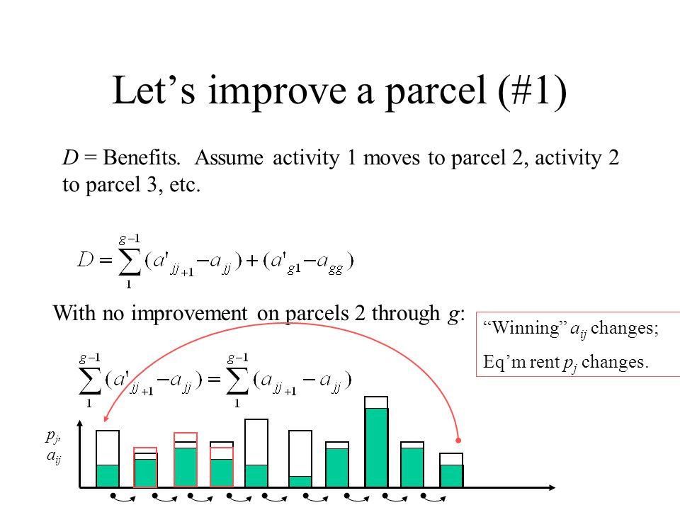 Let's improve a parcel (#1) D = Benefits.