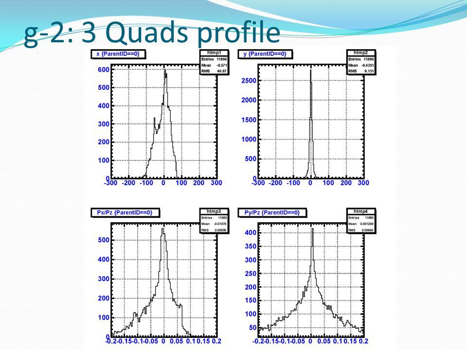 g-2: 3 Quads profile