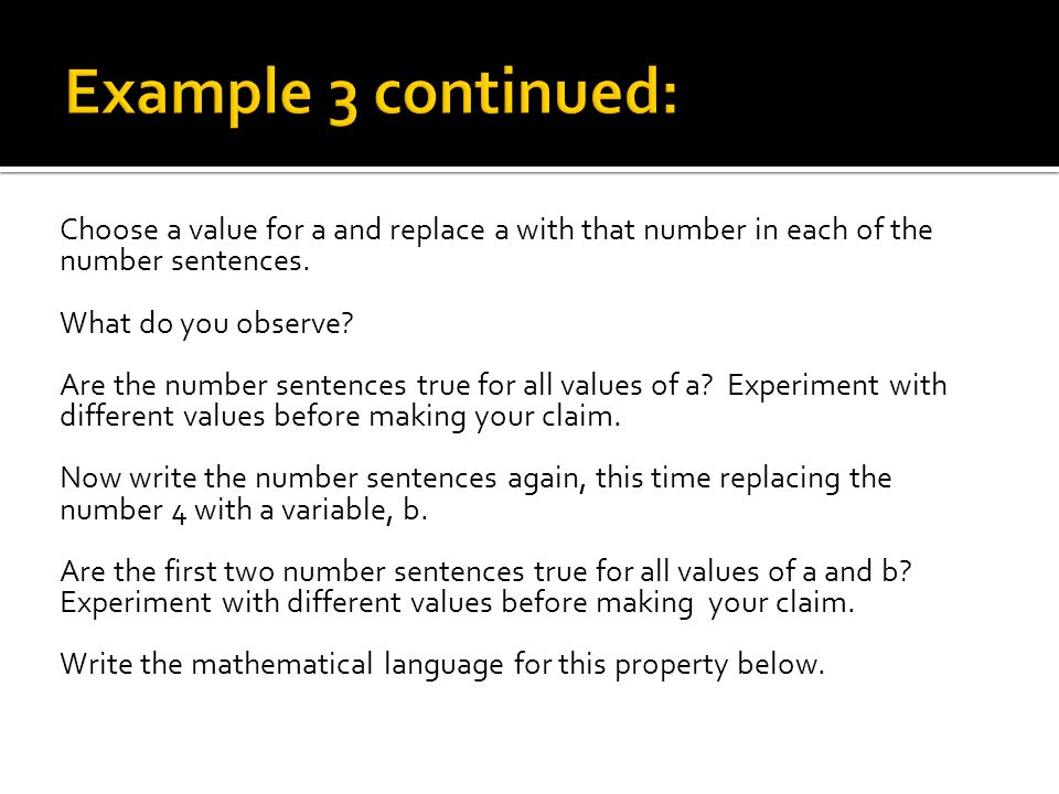 1.Which of these properties of numbers is the easiest for you to remember.
