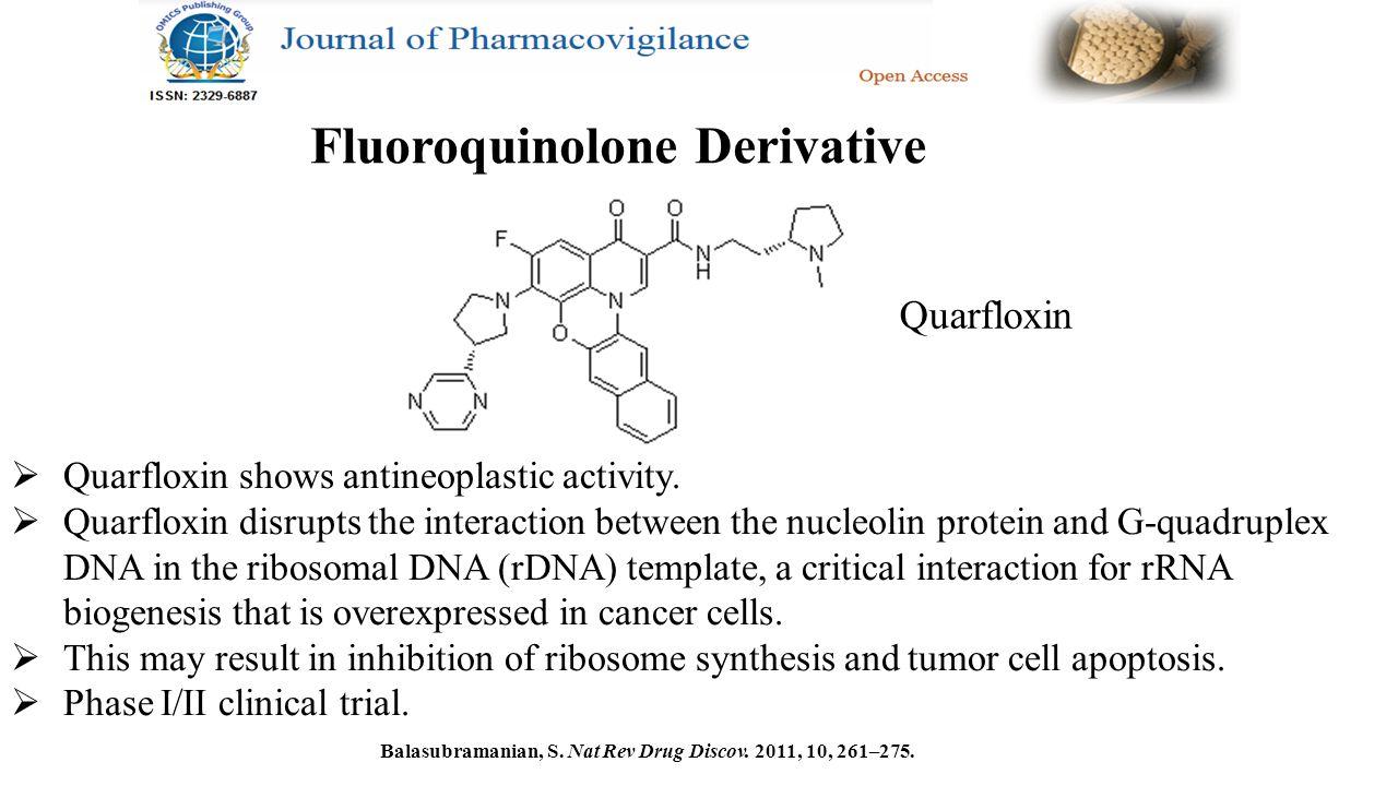 Quarfloxin  Quarfloxin shows antineoplastic activity.