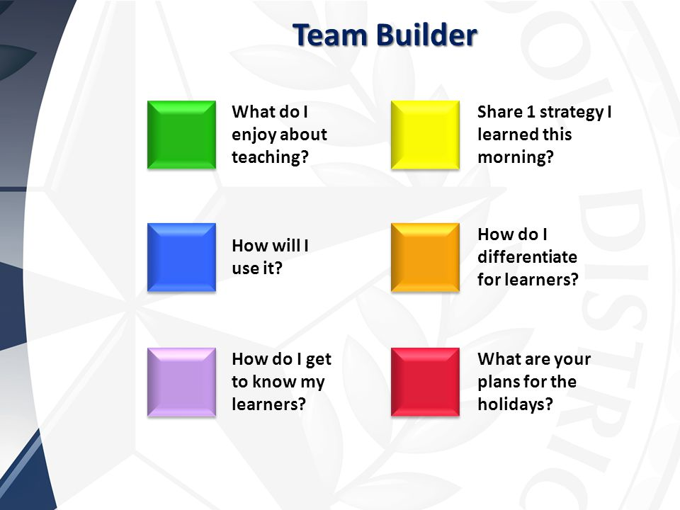 Team Builder What are your plans for the holidays.