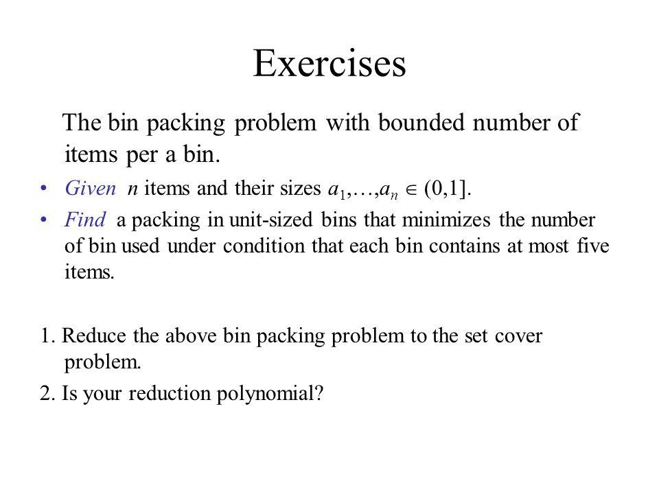 bin packing problem pdf