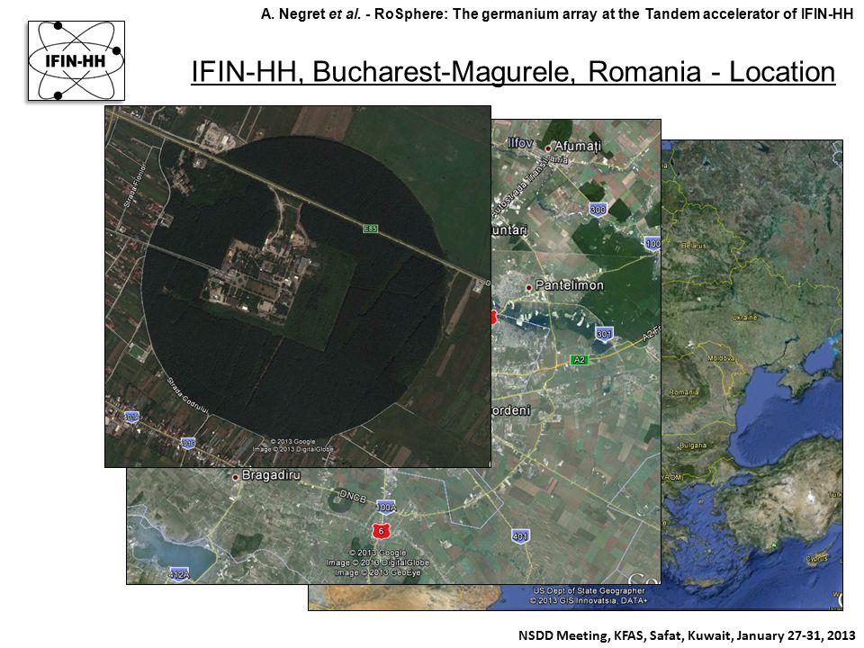 IFIN-HH, Bucharest-Magurele, Romania - Location NSDD Meeting, KFAS, Safat, Kuwait, January 27-31, 2013 A. Negret et al. - RoSphere: The germanium arra
