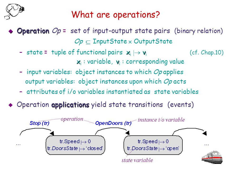 What are operations.