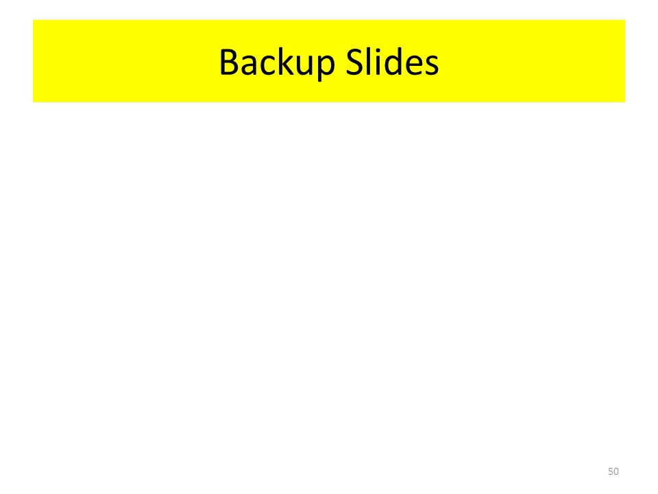 Backup Slides 50