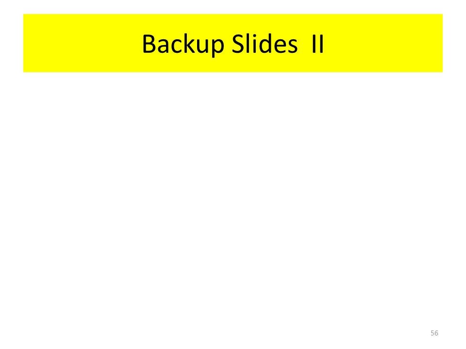 Backup Slides II 56