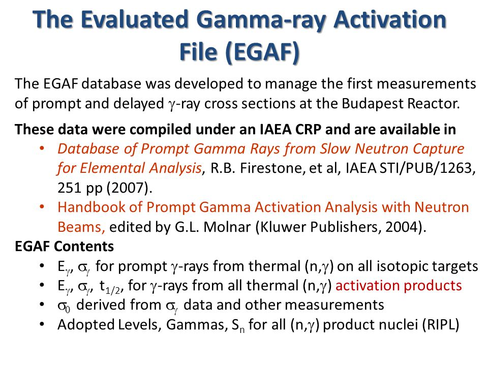 Neutron Activation Decay Data Richard B.
