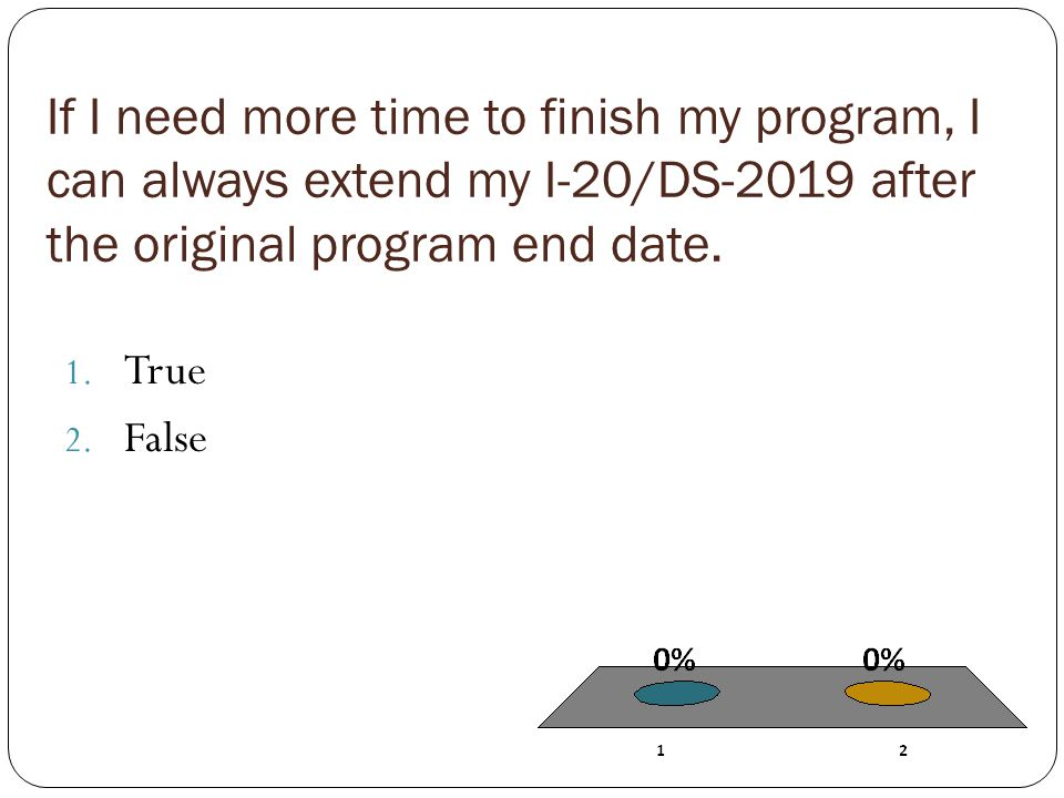 If I need more time to finish my program, I can always extend my I-20/DS-2019 after the original program end date.