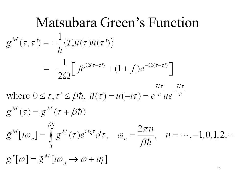 Matsubara Green's Function 15