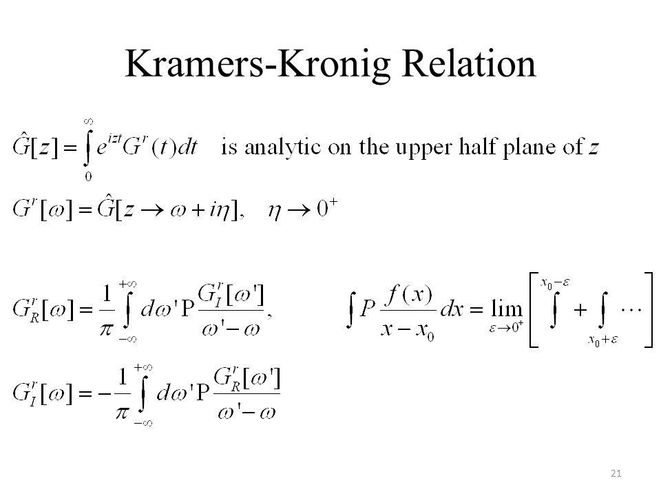 Kramers-Kronig Relation 21