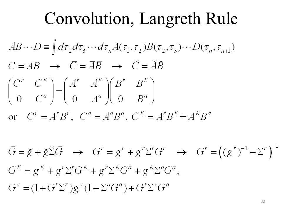 Convolution, Langreth Rule 32