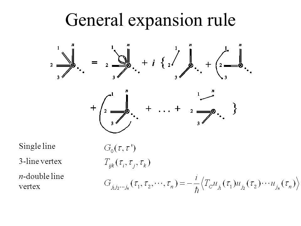 General expansion rule Single line 3-line vertex n-double line vertex