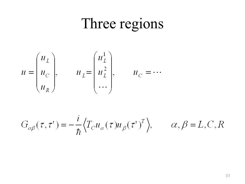 Three regions 51