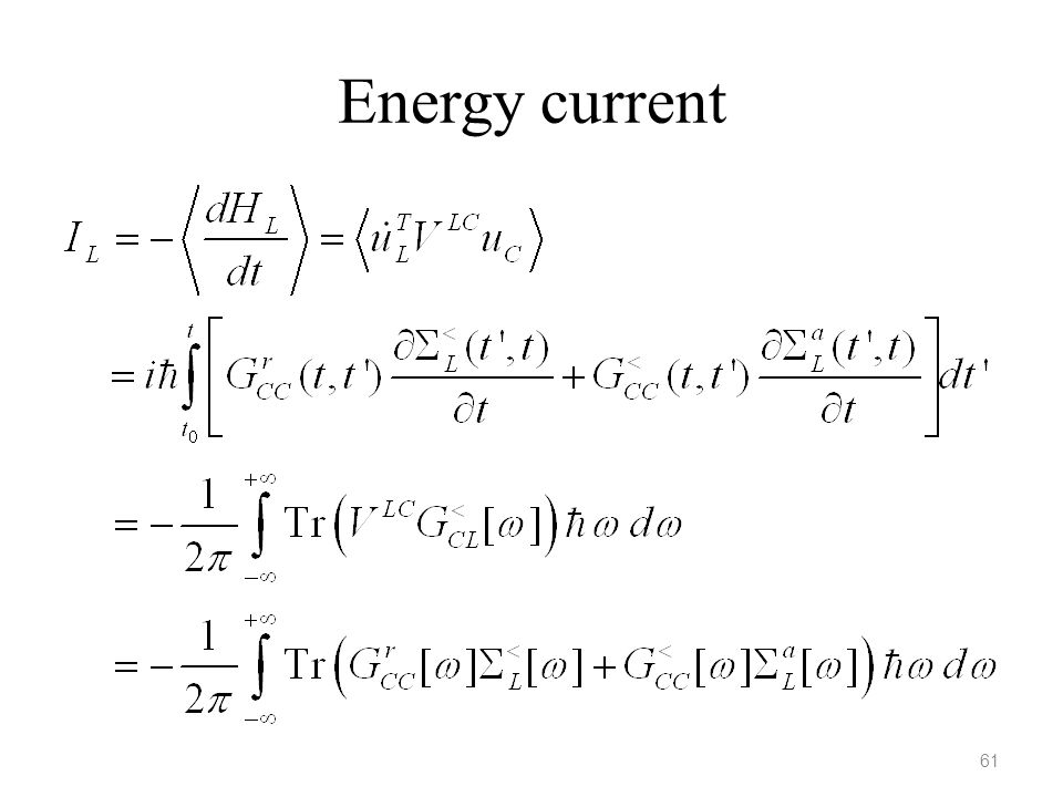 Energy current 61