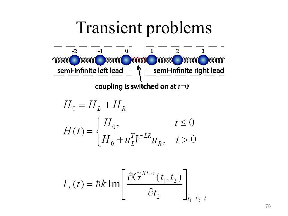 Transient problems 78
