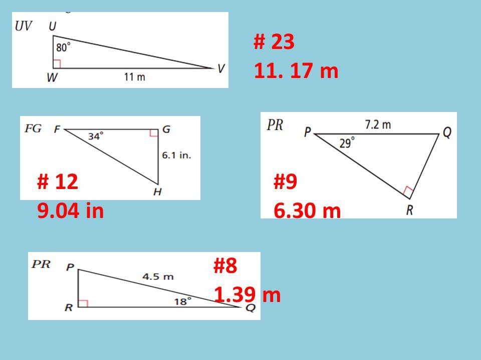 # 23 11. 17 m # 12 9.04 in #9 6.30 m #8 1.39 m