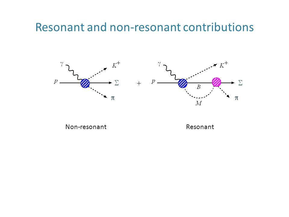 Resonant and non-resonant contributions Non-resonantResonant
