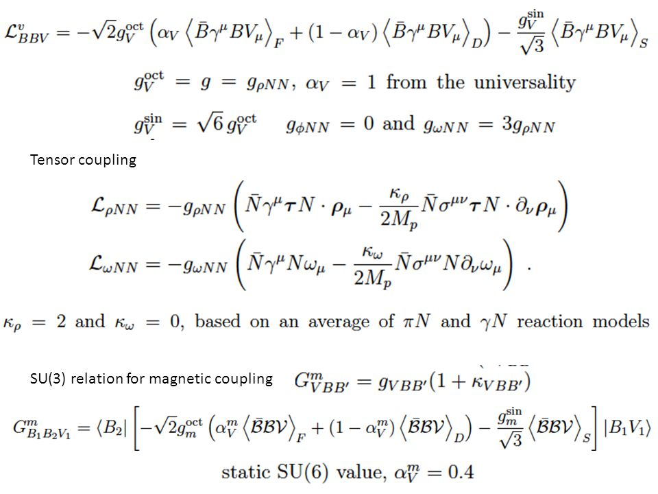 Tensor coupling SU(3) relation for magnetic coupling