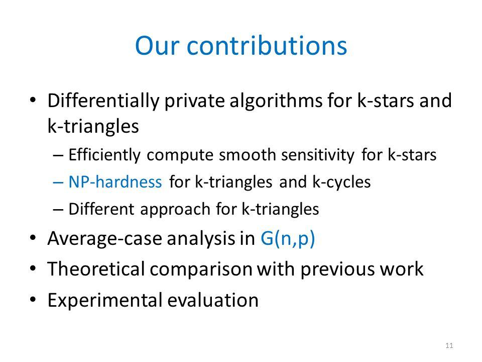 Smooth Sensitivity for k-stars ( ) 12 …