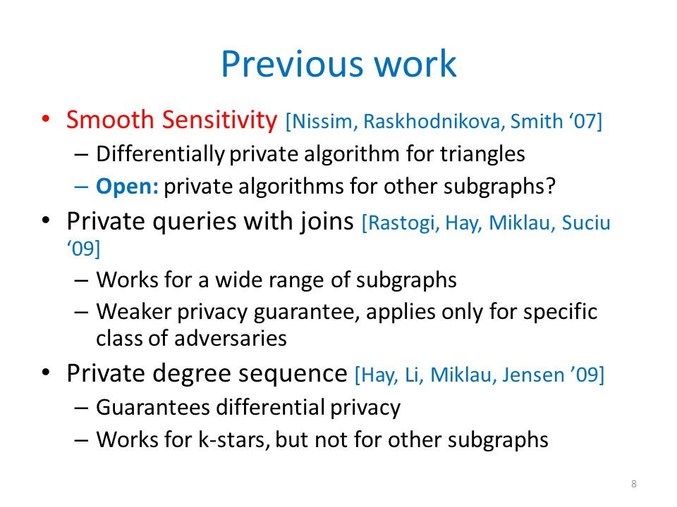 Laplace Mechanism and Sensitivity [Dwork, McSherry, Nissim, Smith '06] 9