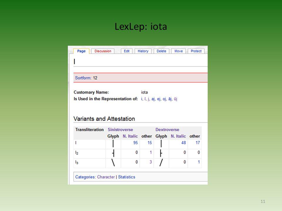 LexLep: iota 11