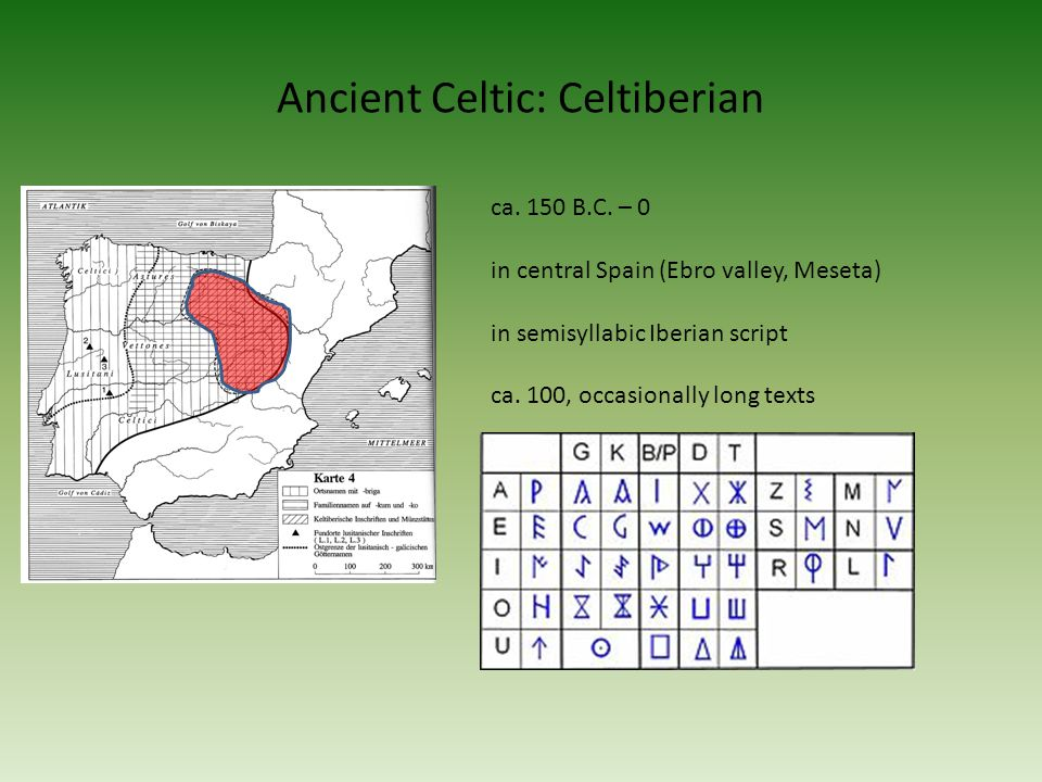 Ancient Celtic: Celtiberian ca. 150 B.C.