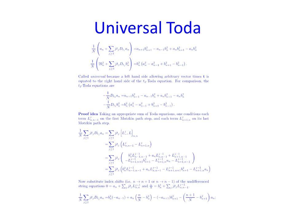 Universal Toda