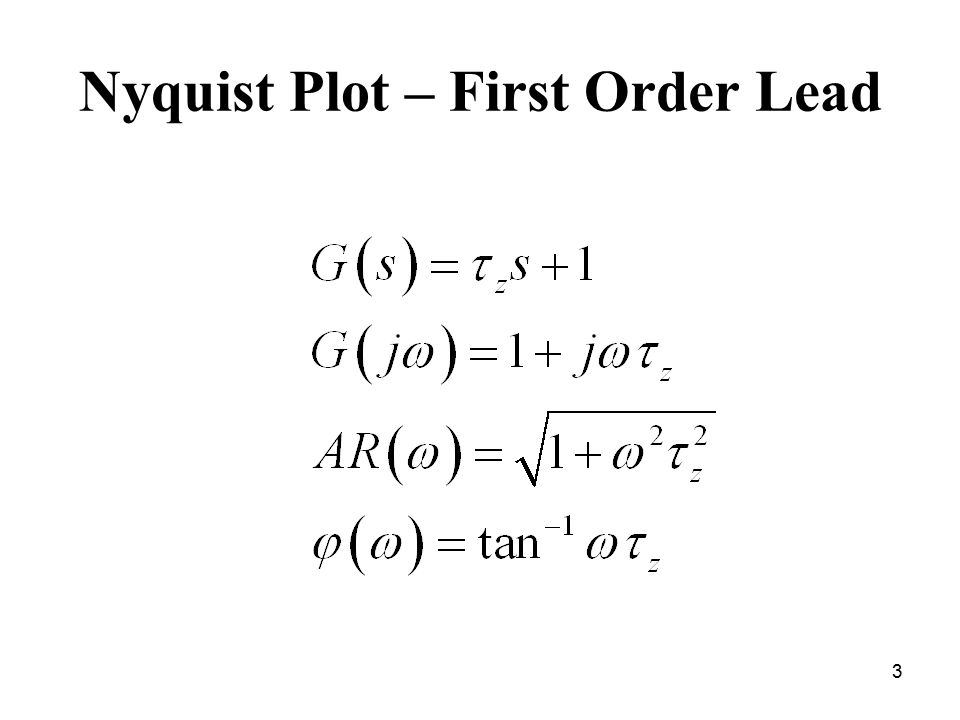 Nyquist Plot – First Order Lead 3