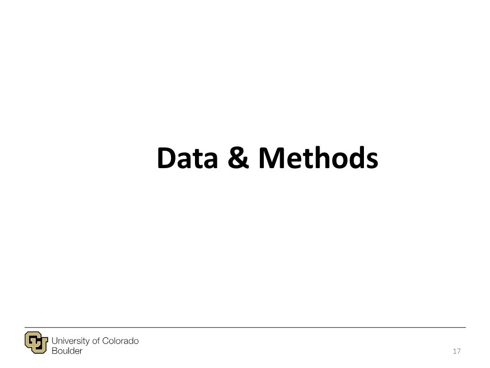 Data & Methods 17