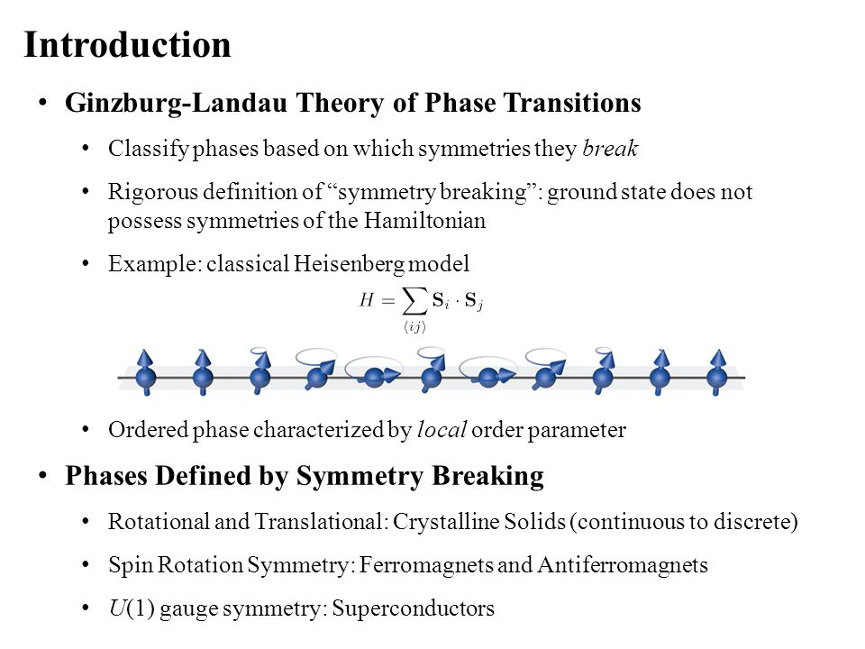The QSHE in HgTe Quantum Wells The Bernevig-Hughes-Zhang Model Hamiltonian with QW symmetries Components Elegant Hamiltonian form Break translational symmetry in the y-direction