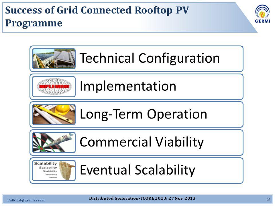 Omkar.J@germi.res.in Installations under 5 MW Gandhinagar Programme 14 60.48 kW @ Lokayukta, Sector 10 80.61 kW @ Govt.