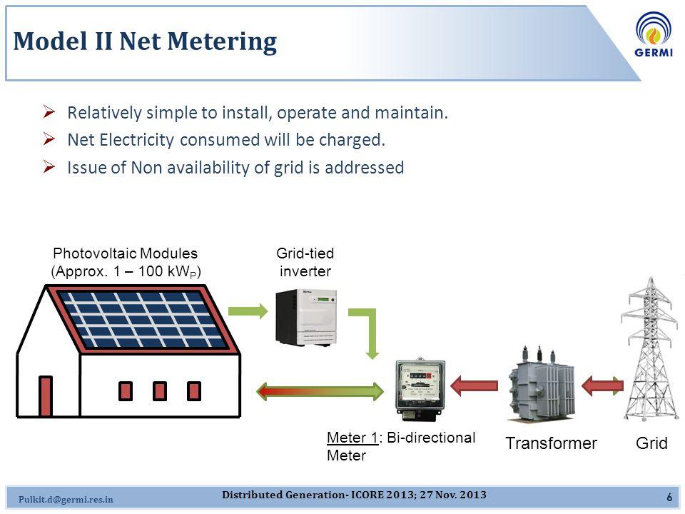 Omkar.J@germi.res.in Gandhinagar Photovoltaic Rooftop Programme  The Gandhinagar Photovoltaic Rooftop Programme (the Programme ) marks the first distributed power generation programme in India in its true sense.