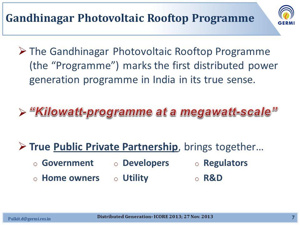 Omkar.J@germi.res.in Future Outlook  New Cities – 5-10 MW each: o Bhavnagar o Mehsana o Rajkot o Surat o Vadodara  Incorporation of Rooftop Photovoltaics at Policy and Regulatory Level.