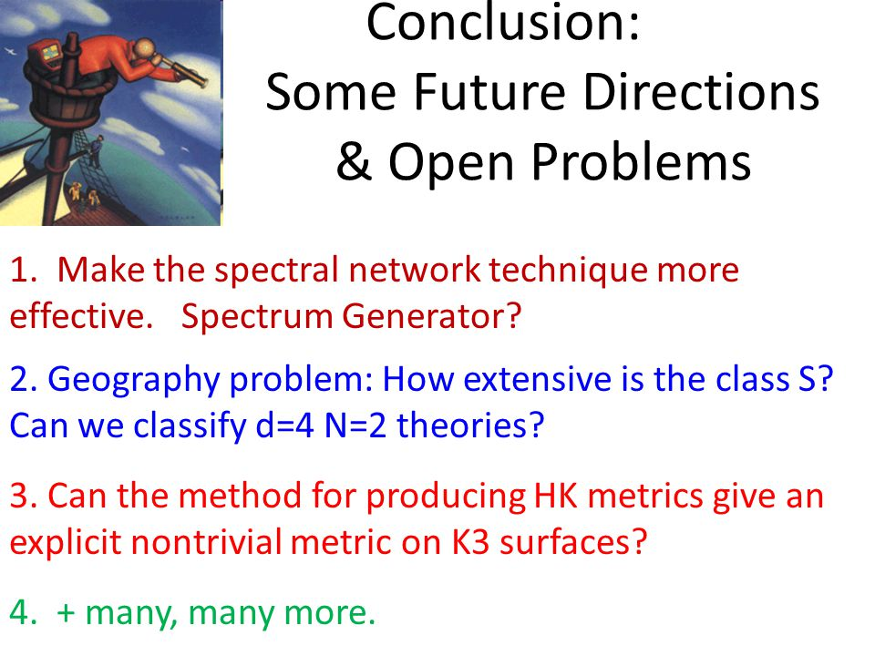 Conclusion: Some Future Directions & Open Problems 1.