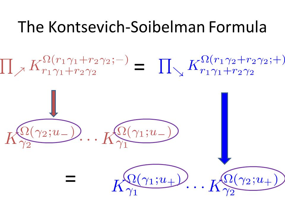 The Kontsevich-Soibelman Formula = =