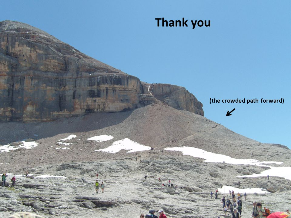 Thank you (the crowded path forward)