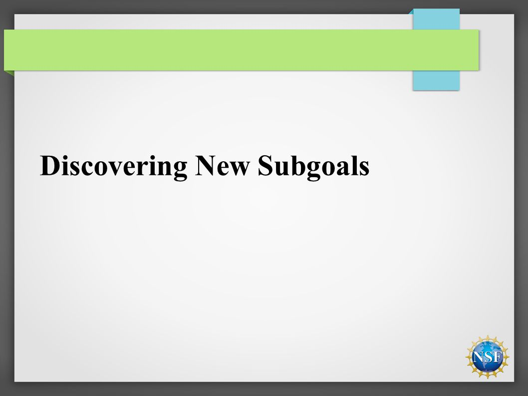 Discovering New Subgoals