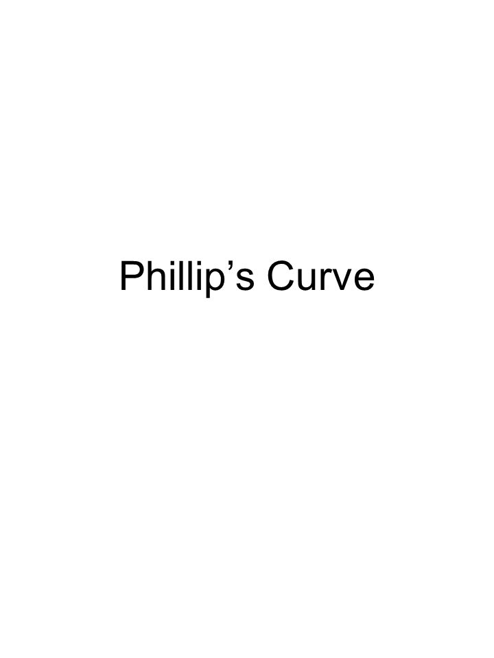 Phillip's Curve