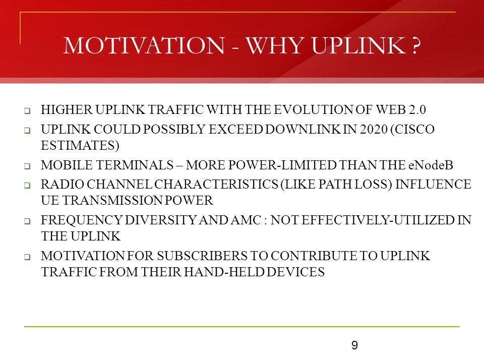 MOTIVATION - WHY UPLINK .