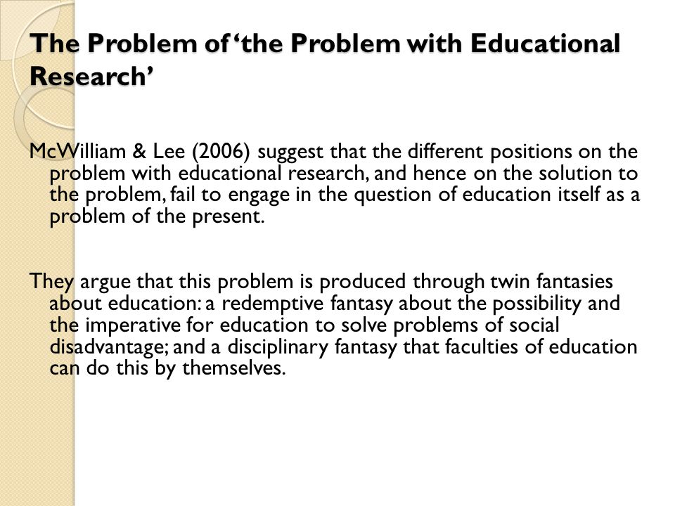 Through an examination of the 'de-sciencing' of education in the past decade or so, and its recent 're-sciencing', they conclude that, with all the problems that might be identified as pertaining to educational research and to Faculties of Education, the most significant might well be a failure of research imagination.