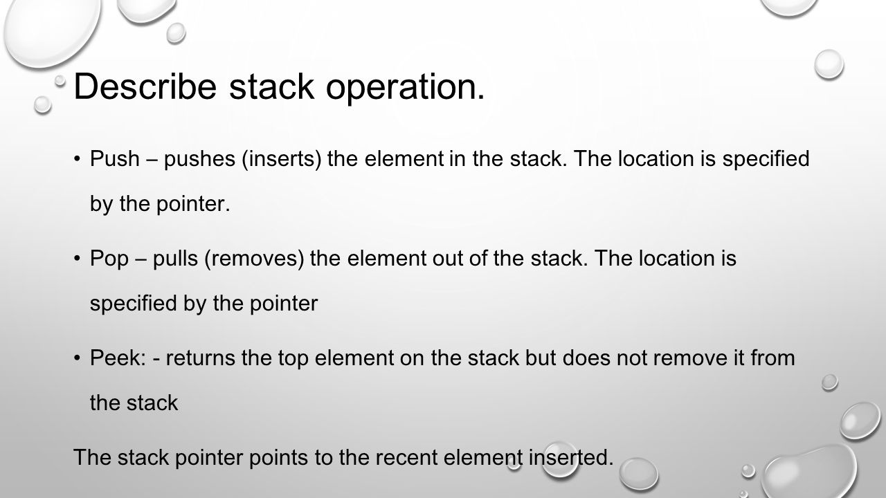 What are the different applications of stack.Function calls.