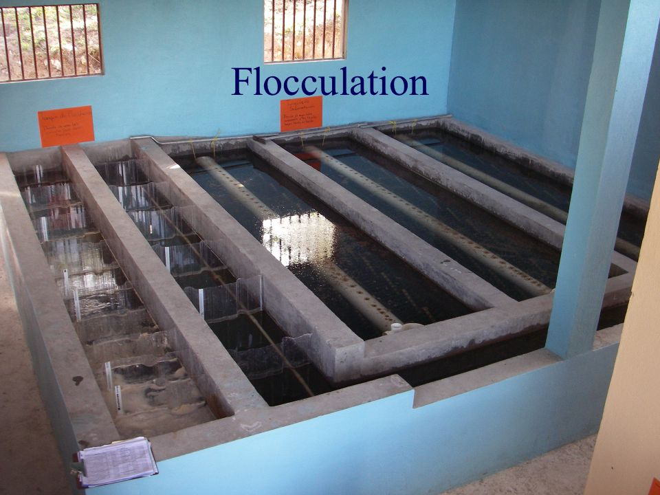 Proposed Turbulent Flocculation Sedimentation Model (missing phase 1) Energy dissipation rate Flocculation time Fractional surface coverage of colloid by coagulant Initial floc volume fraction Sedimentation tank capture velocity Sedimentation velocity of ??.